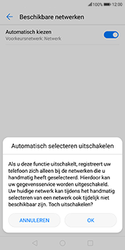 Huawei Mate 10 Lite - Netwerk selecteren - Handmatig een netwerk selecteren - Stap 8