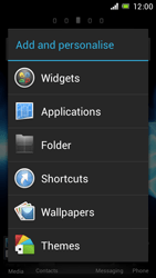 Sony Xperia J - Getting started - Installing widgets and applications on your start screen - Step 3