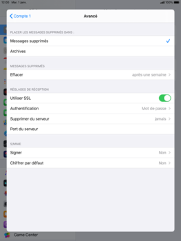 Apple iPad Air 2 - ipados 13 - E-mail - configuration manuelle - Étape 22
