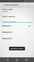 Sony Xperia Z3 Compact - Network - Manual network selection - Step 10
