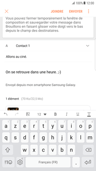 Samsung Galaxy S6 Edge+ - Android Nougat - E-mail - envoyer un e-mail - Étape 16