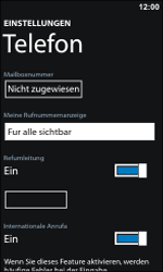 Nokia Lumia 800 - Anrufe - Rufumleitungen setzen und löschen - Schritt 7