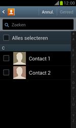 Samsung S7560 Galaxy Trend - Contacten en data - Contacten overzetten via Bluetooth - Stap 7