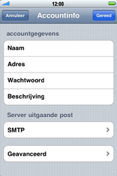 Apple iPhone 4 - E-mail - handmatig instellen - Stap 12