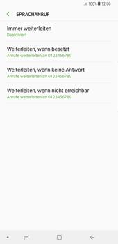 Samsung Galaxy S8 Plus - Android Oreo - Anrufe - Rufumleitungen setzen und löschen - Schritt 8