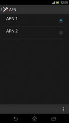 Sony Xperia V - Internet et roaming de données - Configuration manuelle - Étape 16