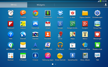 Samsung Galaxy Tab 3 10-1 LTE - Startanleitung - Installieren von Widgets und Apps auf der Startseite - Schritt 6