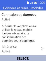 Alcatel 3088X - Aller plus loin - Désactiver les données à l'étranger - Étape 5