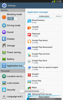 Samsung Galaxy Tab 3 8-0 LTE - Applications - How to uninstall an app - Step 8