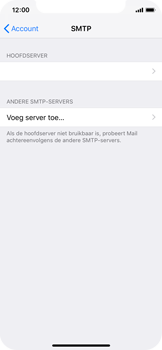 Apple iPhone X - iOS 12 - E-mail - e-mail instellen: IMAP (aanbevolen) - Stap 22