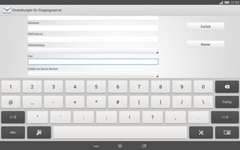 Sony Xperia Tablet Z2 LTE - E-Mail - Konto einrichten - Schritt 10