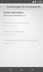 Sony Xperia E1 - Anrufe - Rufumleitungen setzen und löschen - Schritt 8