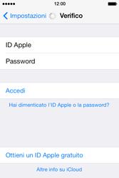 Apple iPhone 4S iOS 7 - Applicazioni - Configurazione del servizio Apple iCloud - Fase 5