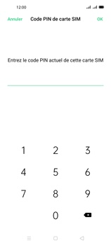 Oppo A72 - Sécuriser votre mobile - Personnaliser le code PIN de votre carte SIM - Étape 9
