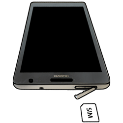 Huawei Ascend Mate - SIM-Karte - Einlegen - 3 / 6