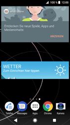 Sony Xperia XZ1 - Startanleitung - Installieren von Widgets und Apps auf der Startseite - Schritt 8