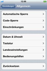 Apple iPhone 3GS - Fehlerbehebung - Handy zurücksetzen - 6 / 10