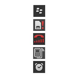 BlackBerry Q10 - Premiers pas - Comprendre les icônes affichés - Étape 30