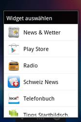 Alcatel OT-983 - Startanleitung - installieren von Widgets und Apps auf der Startseite - Schritt 4