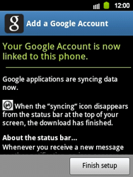 Samsung Galaxy Y - Applications - Setting up the application store - Step 15