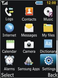 Samsung C3350 Xcover 2 - Internet - Manual configuration - Step 3