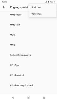 Sony Xperia XZ2 Premium - Android Pie - MMS - Manuelle Konfiguration - Schritt 16