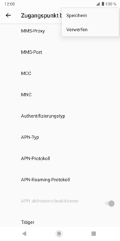 Sony Xperia XZ3 - MMS - Manuelle Konfiguration - Schritt 16
