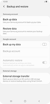 Samsung galaxy-s9-plus-android-pie - Data - Create a backup with your account - Step 6