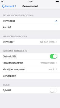 Apple iPhone 8 Plus - iOS 12 - E-mail - Account instellen (POP3 zonder SMTP-verificatie) - Stap 22
