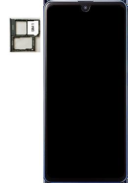 Samsung Galaxy A41 - Premiers pas - Insérer la carte SIM - Étape 4