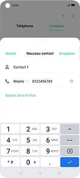 Oppo Find X2 Neo - Contact, Appels, SMS/MMS - Ajouter un contact - Étape 7