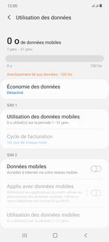 Samsung Galaxy Note20 - Internet et connexion - Désactiver la connexion Internet - Étape 7