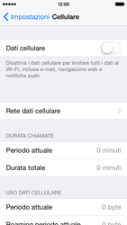 Apple iPhone 5s iOS 8 - Internet e roaming dati - Come verificare se la connessione dati è abilitata - Fase 4
