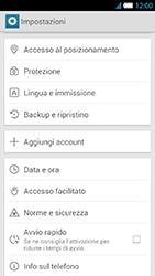 Alcatel One Touch Idol S - Dispositivo - Ripristino delle impostazioni originali - Fase 5