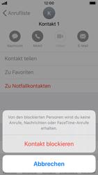Apple iPhone SE - iOS 13 - Anrufe - Anrufe blockieren - Schritt 6