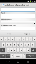 Sony C6903 Xperia Z1 - E-mail - e-mail instellen: IMAP (aanbevolen) - Stap 9