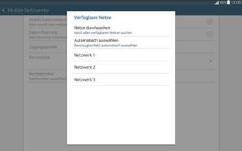 Samsung T535 Galaxy Tab 4 10.1 - Netzwerk - Manuelle Netzwerkwahl - Schritt 9