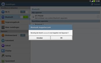 Samsung P5220 Galaxy Tab 3 10-1 LTE - Bluetooth - Headset, carkit verbinding - Stap 7