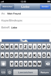 Apple iPhone 4 - E-Mail - E-Mail versenden - 1 / 1