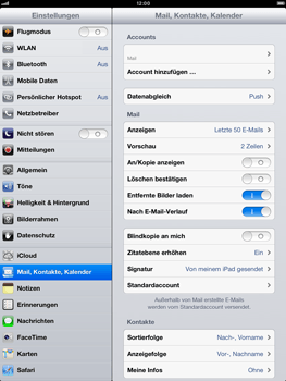 Apple iPad mini - E-Mail - Manuelle Konfiguration - Schritt 14