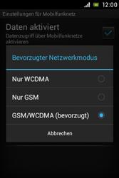 Sony Xperia E - Netzwerk - Netzwerkeinstellungen ändern - Schritt 7