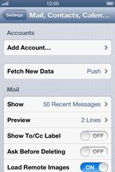 Apple iPhone 4 S - E-mail - Manual configuration - Step 5