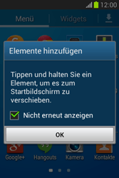 Samsung Galaxy Fame Lite - Startanleitung - Installieren von Widgets und Apps auf der Startseite - Schritt 5