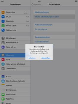 Apple iPad Air - Gerät - Zurücksetzen auf die Werkseinstellungen - Schritt 6