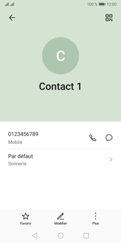 Huawei Y5P - Contact, Appels, SMS/MMS - Ajouter un contact - Étape 8