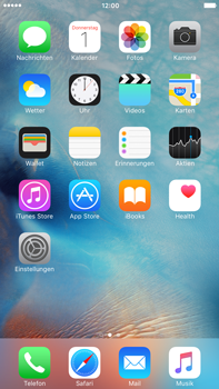 Apple iPhone 6 Plus mit iOS 9 - SMS - Manuelle Konfiguration - Schritt 1
