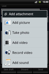 Sony Xperia Mini Pro - E-mail - Sending emails - Step 8