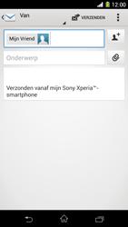 Sony C6903 Xperia Z1 - e-mail - hoe te versturen - stap 8