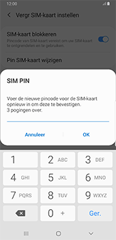 Samsung Galaxy S8+ - Android Pie (SM-G955F) - Beveiliging en ouderlijk toezicht - Hoe wijzig ik mijn SIM PIN-code - Stap 10