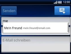 Sony Ericsson Xperia X10 Mini Pro - E-Mail - E-Mail versenden - Schritt 6
